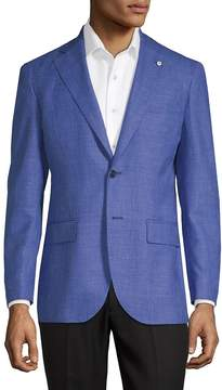 Lubiam Men's Chambray Suit Jacket