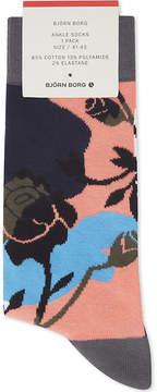 Bjorn Borg Winter floral cotton-blend socks