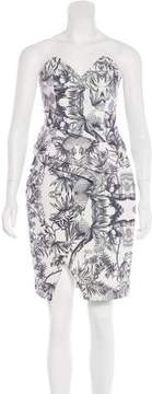 Finders Keepers Peplum-Accented Printed Dress