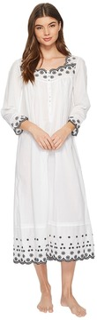 Eileen West Embroidered Lawn Ballet Long Sleeve Nightgown Women's Pajama