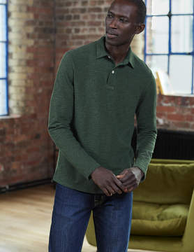 Boden Long Sleeve Slub Polo