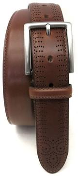 Boconi Men's Perforated Tab Leather Belt