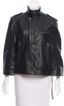 Diesel Black Gold Structured Leather Poncho