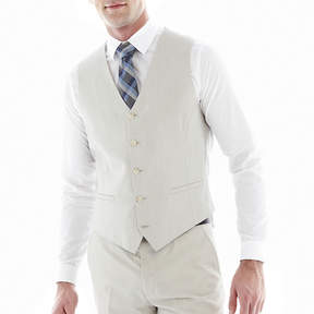 Jf J.Ferrar J.F. Slim Fit Bone Suit Vest