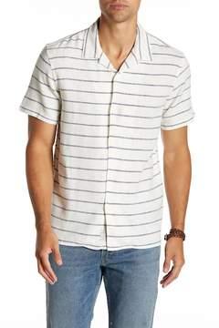 Lucky Brand Striped Short Sleeve Regular Fit Shirt