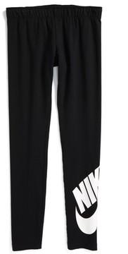 Nike Girl's Leg A See Logo Leggings