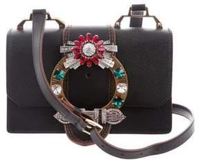 Miu Miu 2017 Lady Jeweled Madras Crossbody Bag