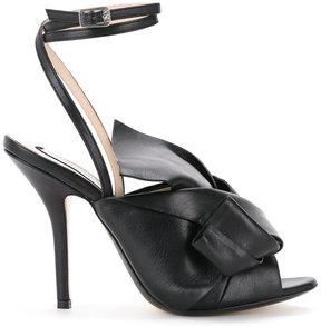 No.21 oversized bow stiletto sandals