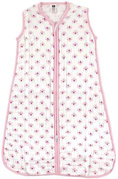 Hudson Baby Pink Floral Sleeping Bag - Infant