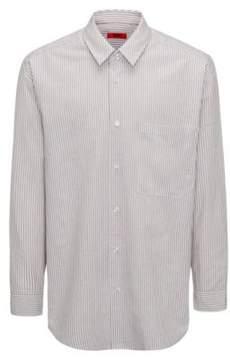 HUGO Boss Runway Edition Linen Cotton Sport Shirt, Oversized Fit Erilio L Light Beige