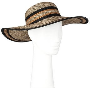 Merona Women's Floppy Straw Hat Black and Brown