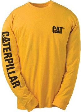 Caterpillar Trademark Banner Long Sleeve Tee (Men's)