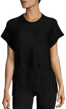 Sara Lanzi Fringed Silk Top