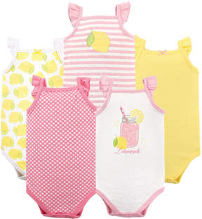 Hudson Baby Lemonade Ruffle Sleeveless Bodysuit Set - Infant