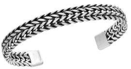 Effy 0.925 Sterling Silver Woven Cuff Bangle