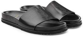 Saint Laurent Leather Slides