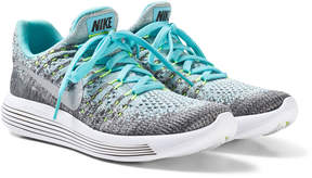 Nike Grey and Blue LunarEpic Low Flyknit 2 Junior Trainers