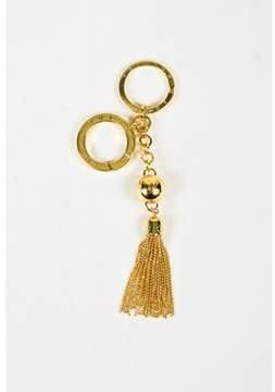 Louis Vuitton Pre-owned Gold Tone Fringed Tassel porte Cles Swing Key Ring.