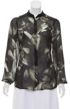 Vivienne Tam Long Sleeve Button-Up Top
