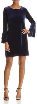 Aqua Velvet Bell Sleeve Dress - 100% Exclusive