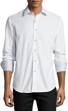 Robert Graham Cullen Tonal-Print Woven Sport Shirt
