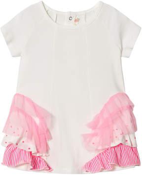 Billieblush Ivory and Pink Multi Frill Dress
