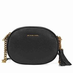 Michael Kors Ginny Medium Crossbody Bag - Black - BLACK - STYLE