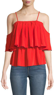 Bishop + Young Lilly Tiered Cold-Shoulder Blouse