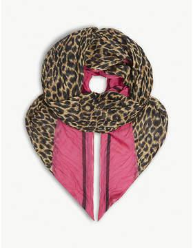 Balenciaga Frame leopard-print modal-silk scarf