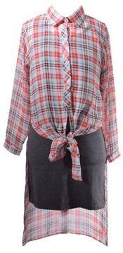 Iris & Ivy Girls Knitted Asymmetric Shift Dress