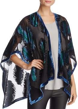 Aqua Velvet Feather Ruana - 100% Exclusive