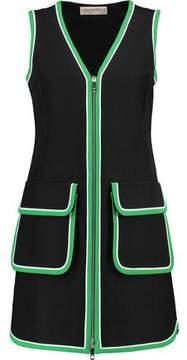 Emilio Pucci Silk-Trimmed Cotton-Twill Mini Dress