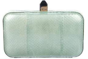 Rebecca Minkoff Embossed Leather Clutch - GREEN - STYLE