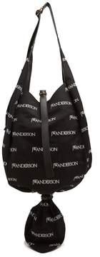 J.W.Anderson Logo-print knot canvas hobo bag