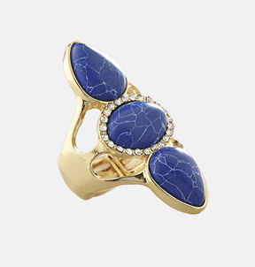 Avenue Navy Multi Stone Ring