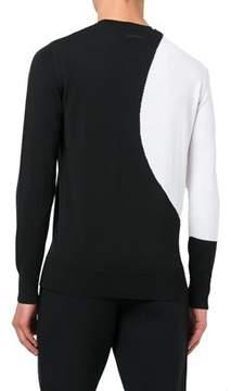 Diesel Black Gold Men's White/black Wool Sweatshirt.