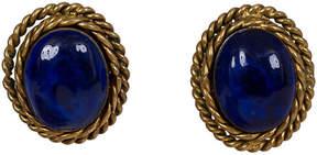 One Kings Lane Vintage Chanel Blue Gripoix Earrings