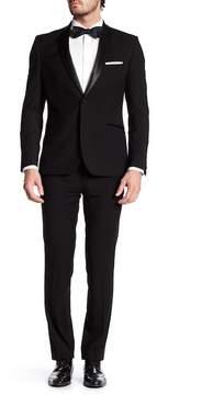 Nick Graham Satin Shawl Two Button Tuxedo Suit