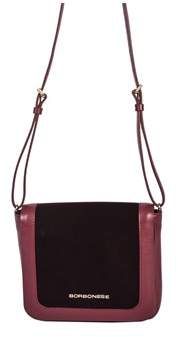 Borbonese Women's Multicolor Leather Shoulder Bag.