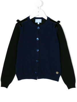 Lanvin Enfant bow detail cardigan