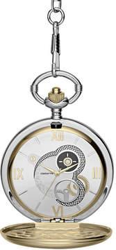 Claiborne Mens Two-Tone Pocket Watch