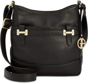 Giani Bernini Leather Crossbody Bucket, Created for Macy's