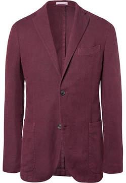 Boglioli Red Slim-Fit Unstructured Cotton, Linen And Silk-Blend Blazer