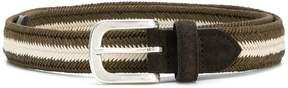 Eleventy woven skinny belt
