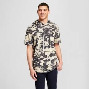 Jackson Men's Short Sleeve Raw Edge Tie Dye Hooded Sweatshirt Charcoal