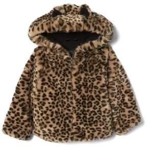 Gap Cheetah faux-fur jacket