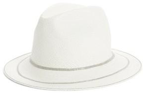 Fabiana Filippi Women's Triple Layer Bead Straw Hat - White