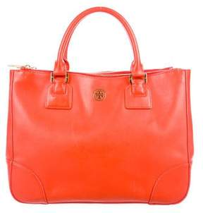 Tory Burch Robinson Double Zip Tote - ORANGE - STYLE