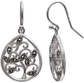 Brilliance+ Brilliance Silver Plated Marcasite Tree Teardrop Earrings