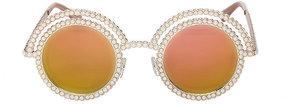 Betsey Johnson Pretty Pearl Round Sunglasses